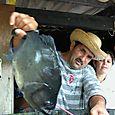 Caboclo pescado piraña